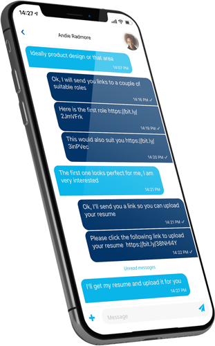 text-messaging, Recruiter to Candidate text